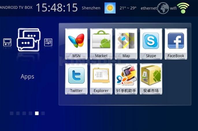 Google TV KD301 - телевизионная приставка, Andoid 2.3,1.2GHz, 512MB RAM, 4GB ROM, HD1080P, Wi-Fi