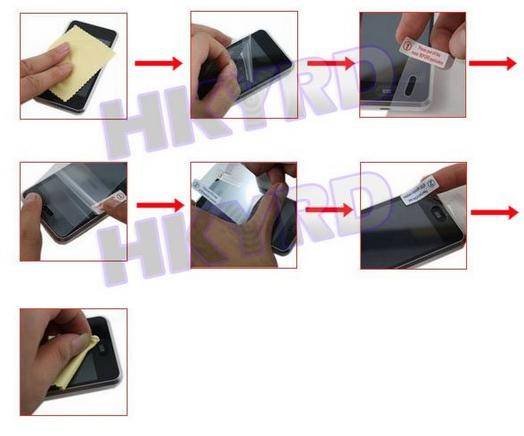 Защитная пленка E4003 для iPhone 4 (10 штук)