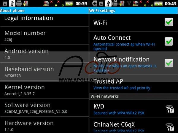 PZ226+ - смартфон, Android 2.3.6, MTK6515 (1GHz), 3.5
