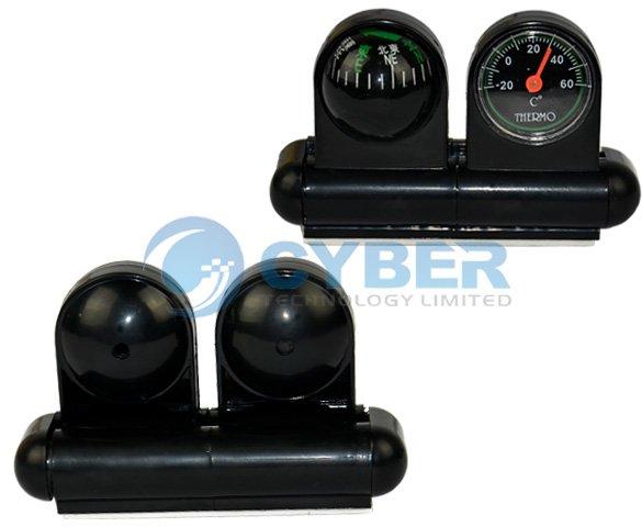 Автомобильный компас и термометр, 2 в 1