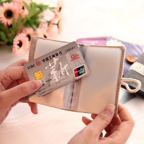 Винтажная визитница для пластиковых карт