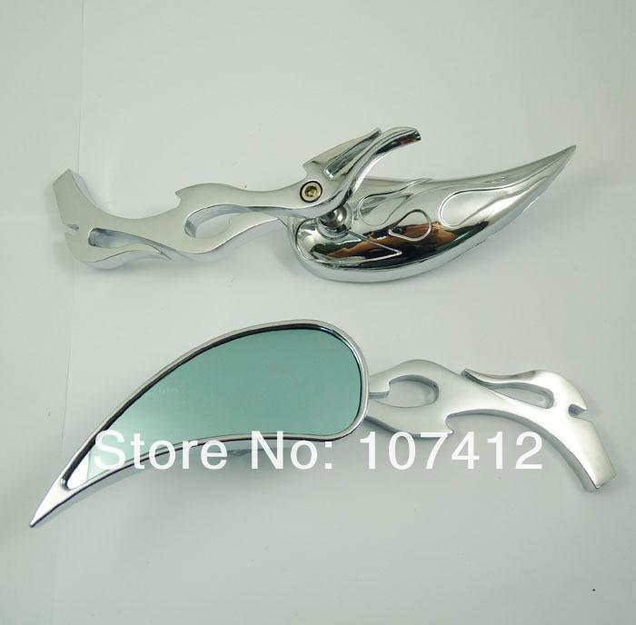 Пара универсальных зеркал заднего вида для Honda, Kawasaki, Suzuki