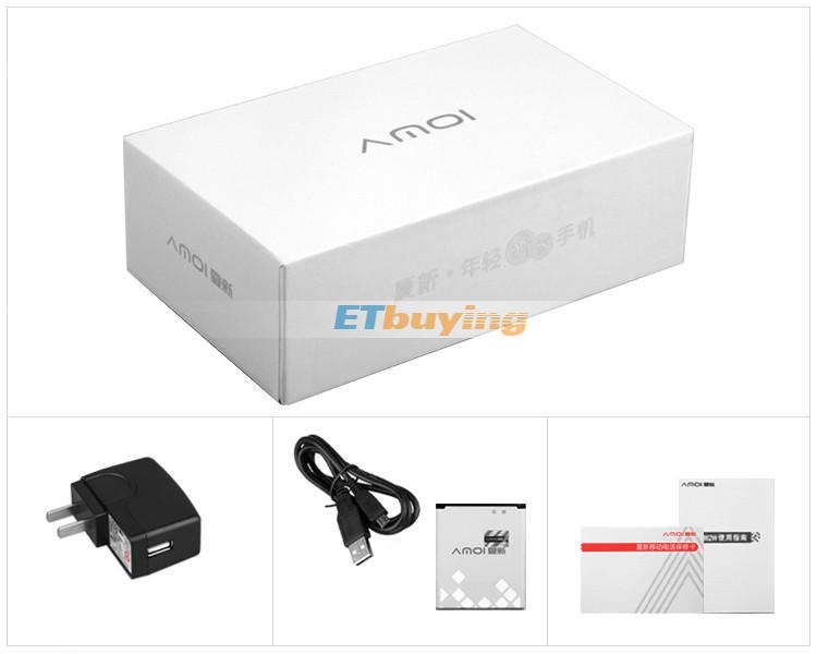 Amoi A862W - Смартфон, Android 4.1, MSM8225Q Quad Core 1.2GHz, 4.5