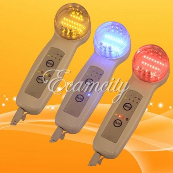 Ультразвуковой 3-цветный, светодиодный Micro Bio массажер, для кожи лица