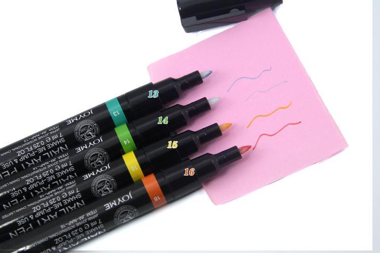 Ручка для нейл-арта, 16 цветов на выбор