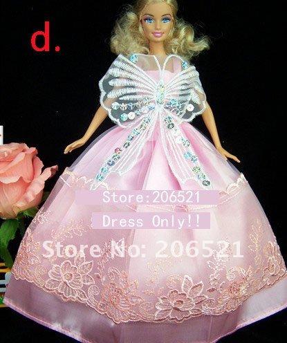 Как сделать свадебное платье  для куклы барби