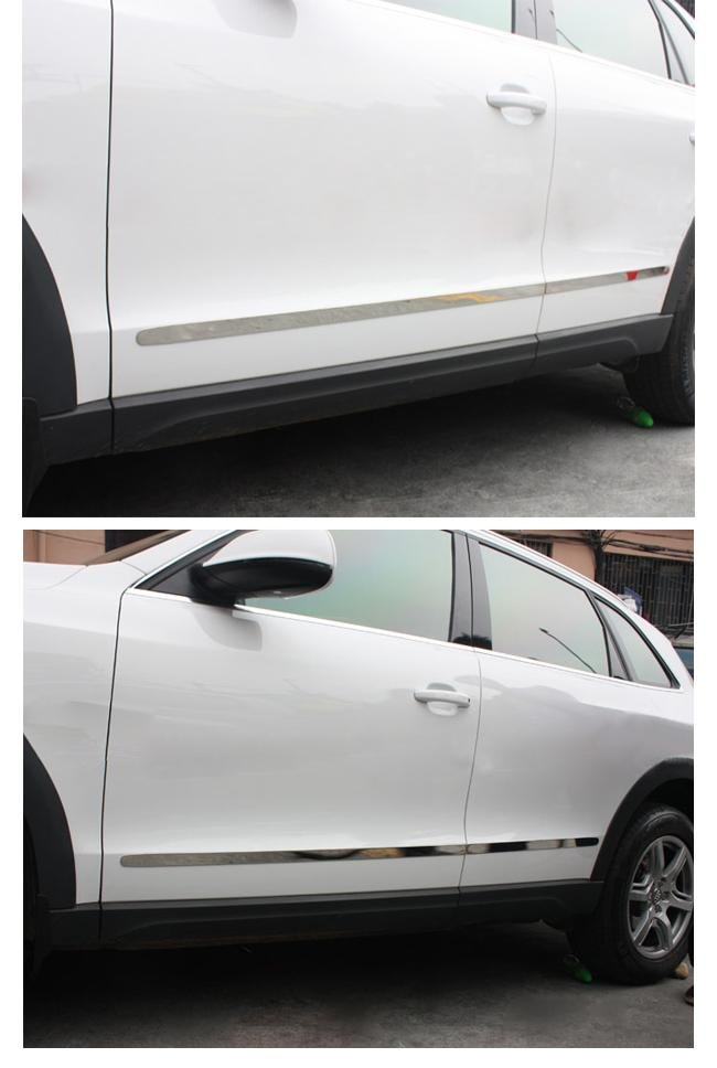 Хромированные защитные накладки на внешнюю часть двери Audi Q5