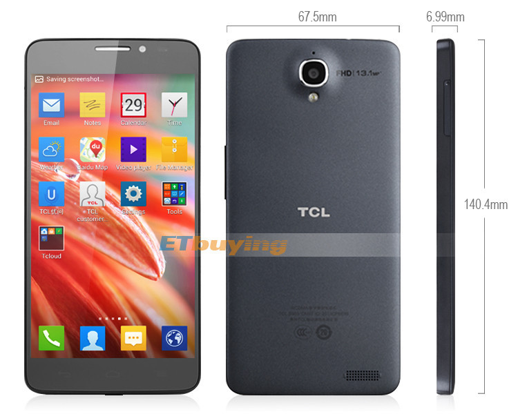 TCL Idol X S950 - Смартфон, Android 4.2.2, Dual SIM, MTK6589T 1.5GHz, 5