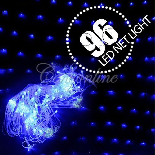 Синяя гирлянда, 96 лампочек