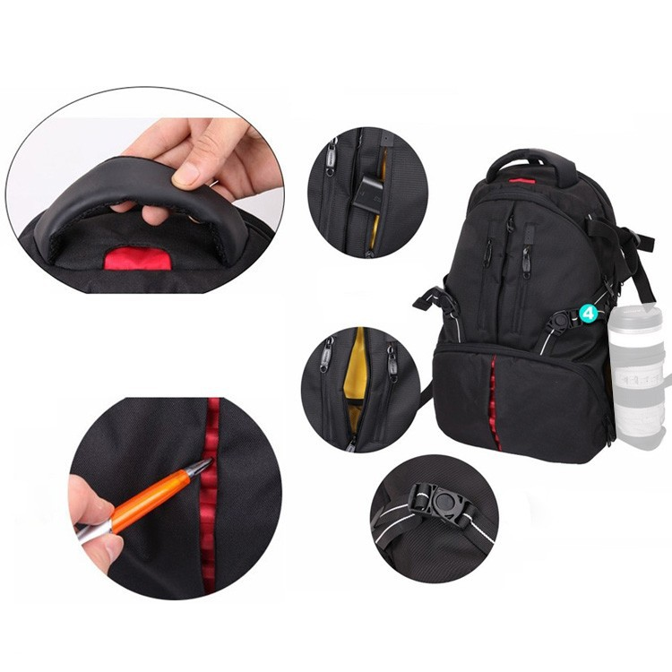 DSTE - DT01B1 Универсальная сумка для переноса фотокамеры и ноутбука, материал: полиэстр, цвет: черный, дождевой чехол