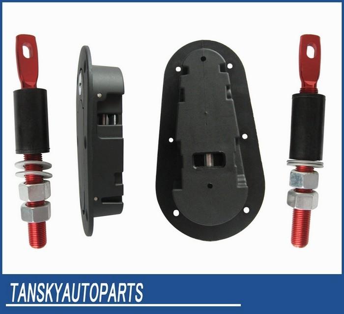 Запиратель капота, спортивный, универсальный, комплект установки + 4шт ключа