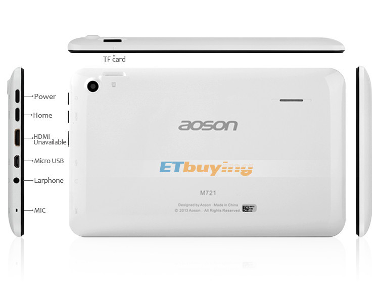 Aoson M721 - Планшетный компьютер, Android 4.0, 1.2GHz, 7