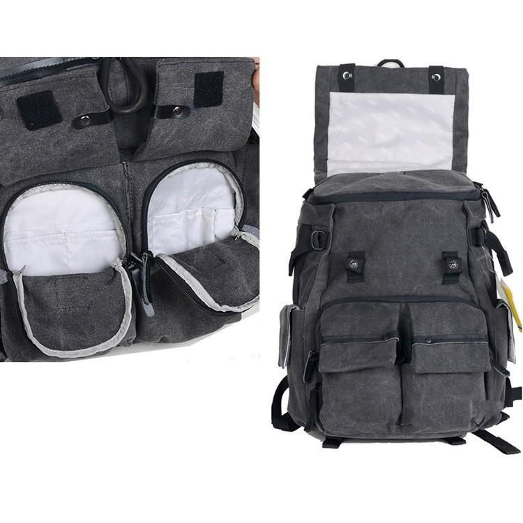 DSTE - DT01B3-G Кейс-сумка для переноски и хранения ноутбука, камеры и аксессуаров, композитные материалы, несколько отсеков