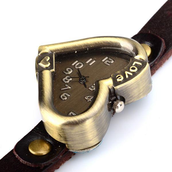 Кварцевые наручные часы в виде сердца