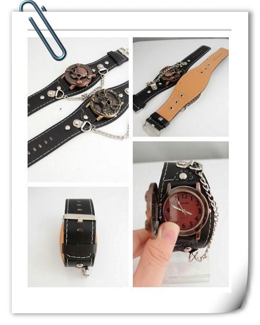 KOW004-1 - Кварцевые часы с черепом