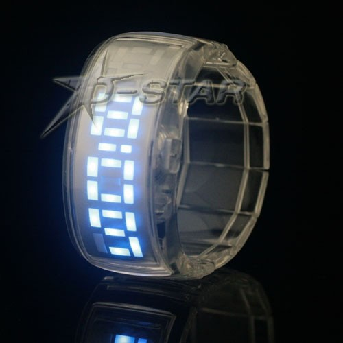 Модные женские часы, матричные, светодиодные, подарочный бокс