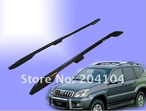 Багажные крепления для крыши, 2шт, цвет черный, алюминий, для моделей TOYOTA PRADO, FJ120, UZJ120, 2003-2009