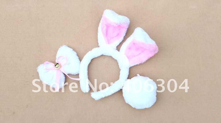 Пасхальные украшения, уши кролика + галстук-бабочка + хвост