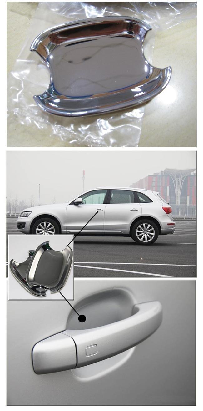 Хромовые накладки на дверные ручки для AUDI Q5 2010-2012, 4шт