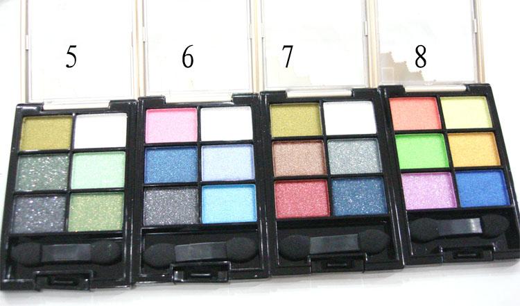 Набор теней для век, 6 цветов