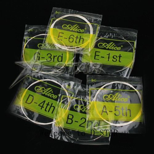 Импортные нейлоновые гитарные струны, 6 шт в упаковке