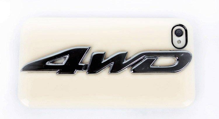 Автомобильная наклейка для бокового стека, металл, 4WD