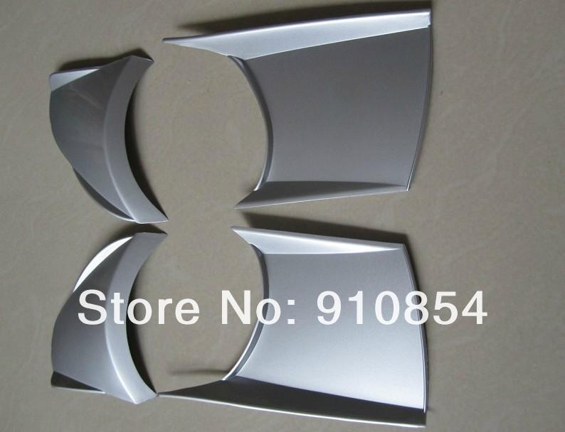 Накладка-кожух для противотуманных фар Subaru Outback 2010-2012, серебро, 4шт