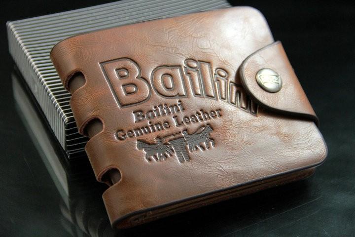 Кожаный мужской бумажник