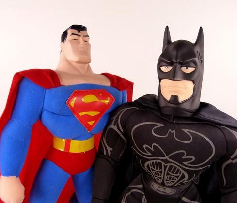 WJMR208 - пластиковые игрушки Бэтмен, Супермен