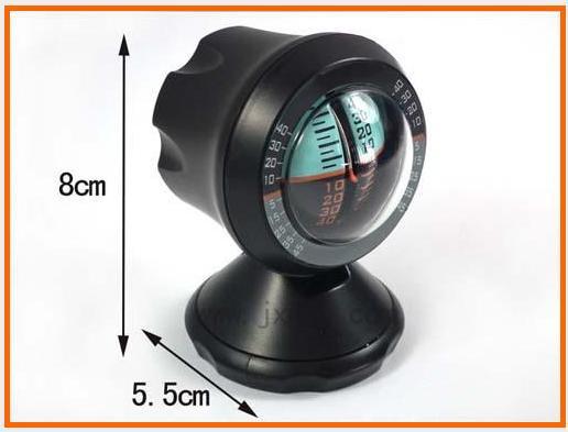 Автомобильный инклинометр, показывает угол наклона, пластик, черный