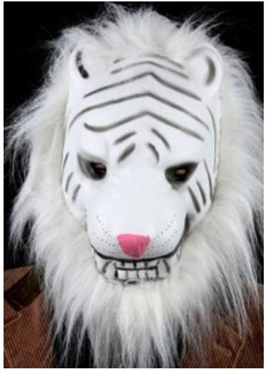 Маскарадная маска Белый Тигр