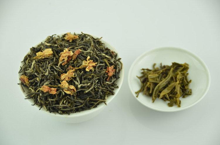 Органический жасминовый и зеленый чай,180г