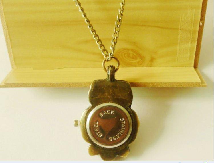 Карменные часы Сова