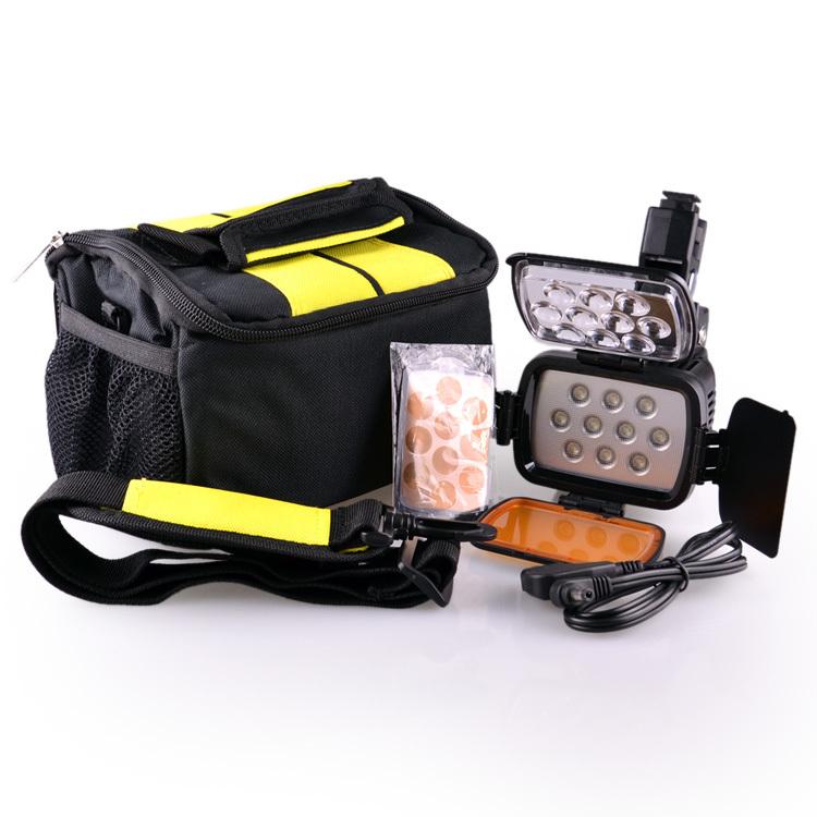 DSTE - VL001A Профессиональная подсветка для видеокамерыкамеры,10-LED, 1800 LUX, Li-on, 20W