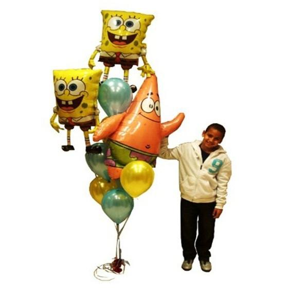 Воздушный шар Спанч Боб, 5 шт