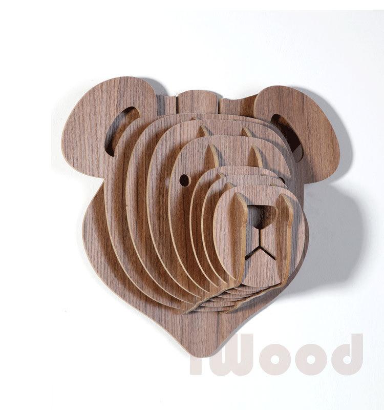 Деревянный мишка Тедди