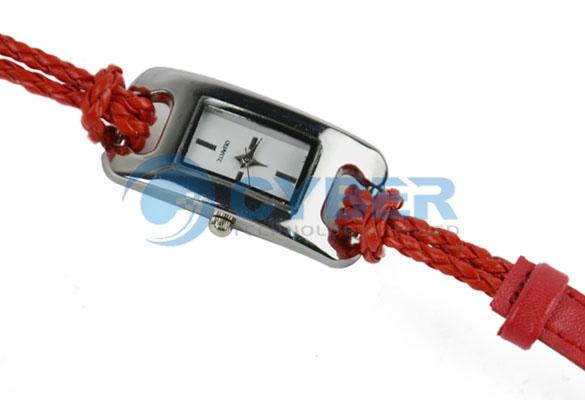 Женские часы с плетеным ремешком, 5 цветов, кварц