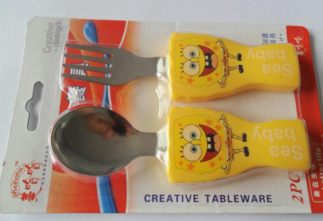 Детский столовый набор - вилка с ложкой