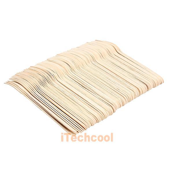 Одноразовые деревянные вилки, 100 шт
