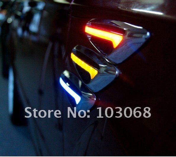 Автомобильные накладки с подсветкой, 2шт, украшение кузова, 12V, LED