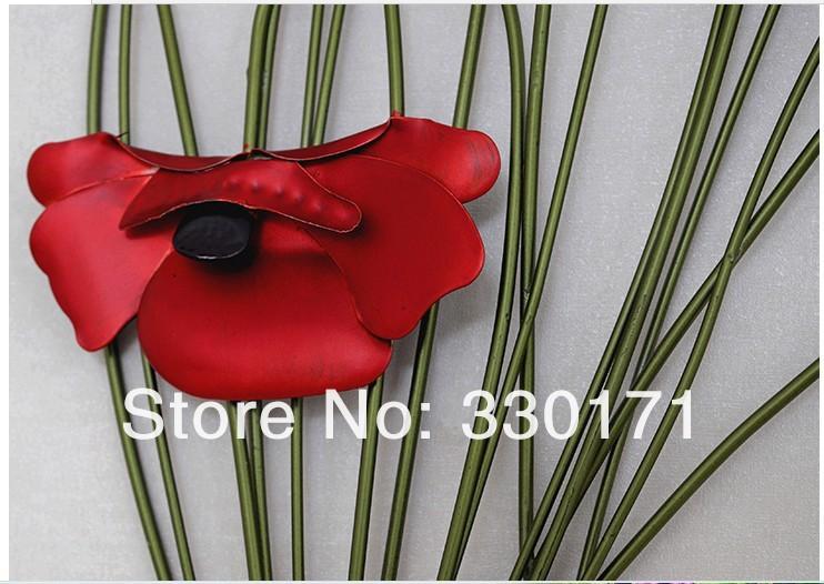 Металлический декоративный букет, цветы