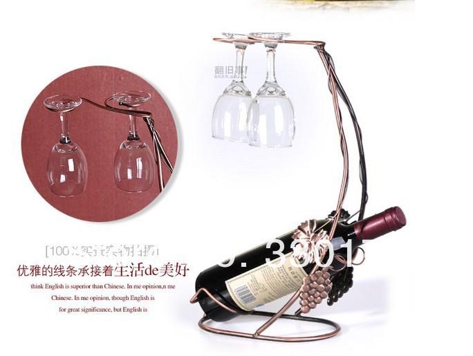 Металлический держатель для бутылок вина, Бронза / Золото / Серебро