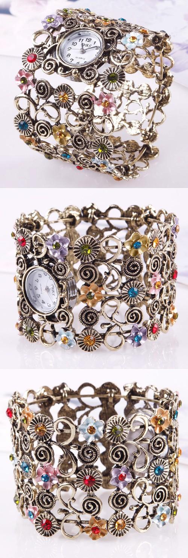 Женские наручные часы, ретро стиль, кварц
