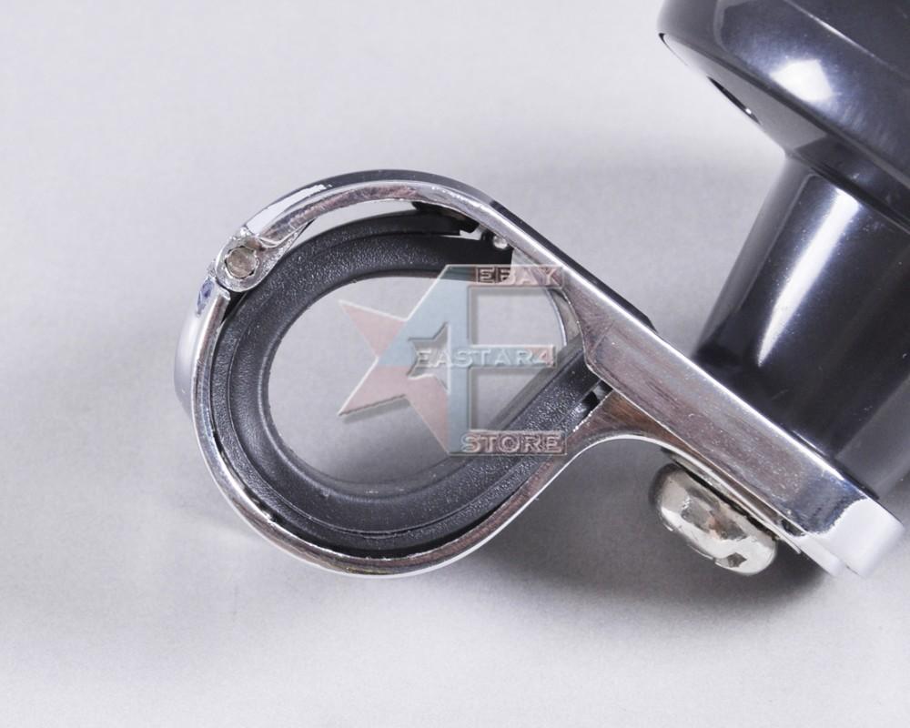 Черная автомобильная ручка для рулевого колеса, нержавейка и ABS