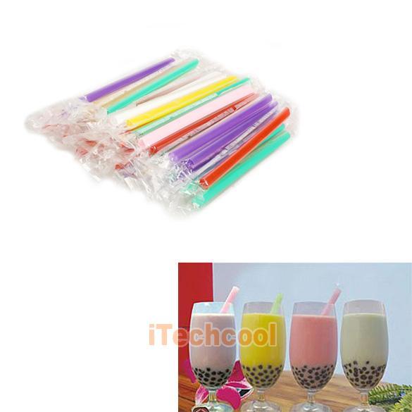 Соломки для коктейлей, 55шт, разные цвета