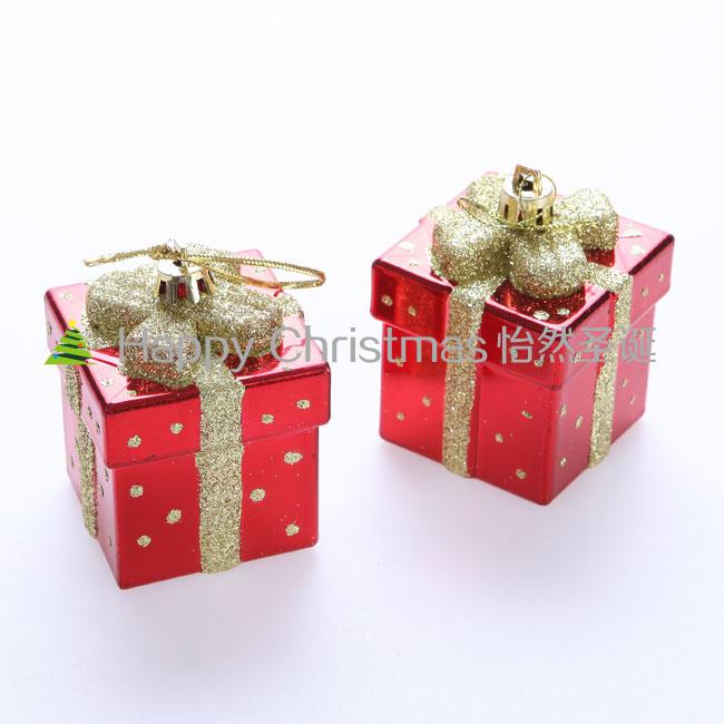 Комплект новогодних украшений в виде подарков, 10шт, подвесные