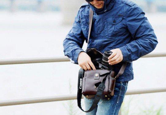 Ретро сумка для фотокамеры