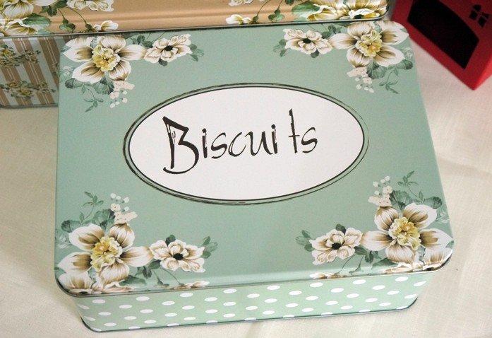 Жестяная коробка для хранения конфет и печенья, 3 шт