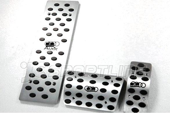 Набор автомобильных педалей для Audi A4, A6, A8, A4L, Q5, алюминиевый сплав