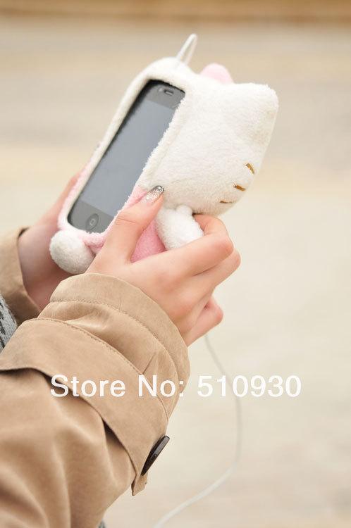 Плюшевый 3D-чехол для iphone 4 4s 4g